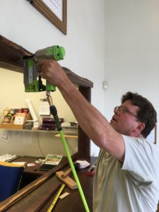 Craig Uses Cadex Nailer on New Counter Frame