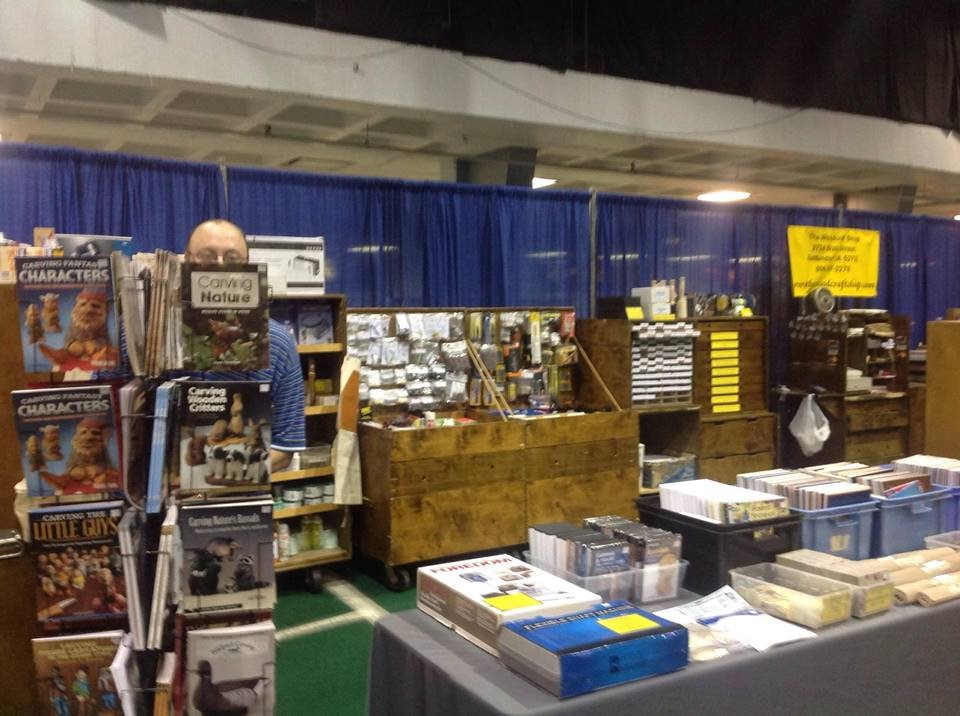 Set-up for a Woodcarving Show